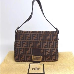 authentic FENDI Zucca pattern Mommy bucket Handbag